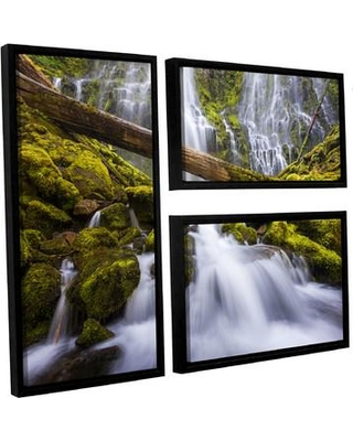 Loon Peak 'Proxy Falls Oregon 3' by Cody York 3 Piece Framed Photographic Print on Wrapped Canvas Set LNPK2707