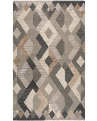 Rizzy Home Idyllic Contemporary Geometric Rug, Natural, 2.5X8 Ft