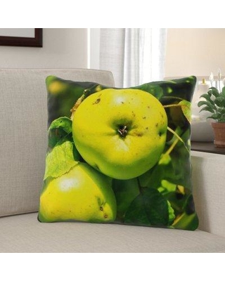 Remarkable Deals On The Holiday Aisle Govea Apple Indoor Outdoor Throw Pillow Polyester Polyfill Polyester Polyester Blend In Green Size 18x18 Wayfair