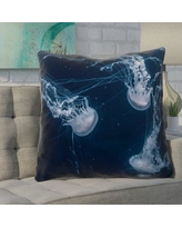 Brayden Studio Nathaniel Jellyfish Square Euro Pillow BYST4746