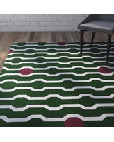 Wrought Studio Uresti Decorative Holiday Geometric Print Green Woven Indoor/Outdoor Area Rug VRKG4481 Rug Size: Rectangle 2' x 3'