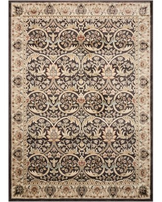 "Tyrrell Brown/Beige Area Rug Charlton Home Rug Size: Rectangle 3'9"" x 5'9"""