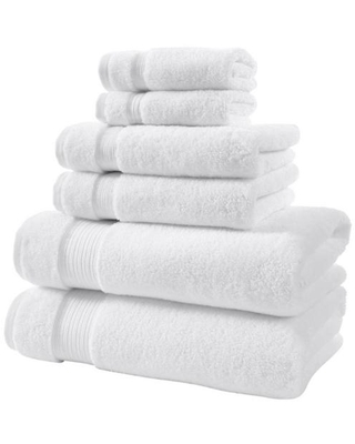 Home Decorators Collection Egyptian Cotton 6-Piece Towel Set in White