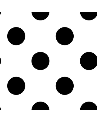 Graham & Brown Dotty Black and White Removable Wallpaper Sample