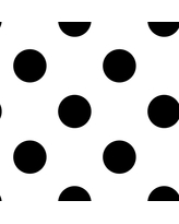 Dotty Black and White Removable Wallpaper Sample