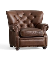 Lansing Leather Armchair, Polyester Wrapped Cushions, Leather Statesville Espresso