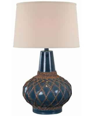 Universal Lighting And Decor Farallon Atlantic Blue Trans Hydrocal Netted Table Lamp From Lamps Plus Bhg