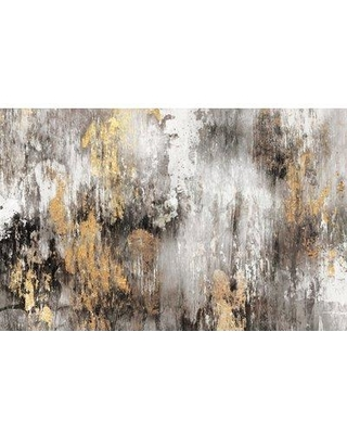 Everly Quinn 'Gold Ikat' Painting Print on Canvas EYQN3735