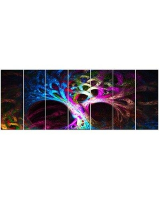 Design Art 'Magical Multicolor Psychedelic Tree' Graphic Art Print Multi-Piece Image on Canvas PT15786-732