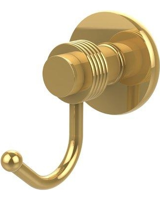 Allied Brass Mercury Wall Mounted Utility Hook with Groovy Detail 920G Finish: Polished Brass