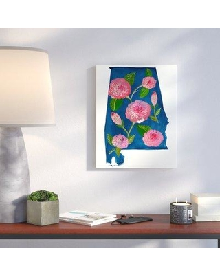 """Wrought Studio 'State Flowers - Alabama' Acrylic Painting Print VRKG4885 Size: 14"""" H x 10"""" W Format: Wrapped Canvas"""