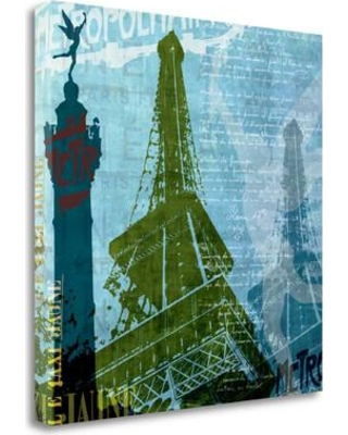 Tangletown Fine Art 'Paris - French Blue' Graphic Art Print on Wrapped Canvas ICA333D-2020c