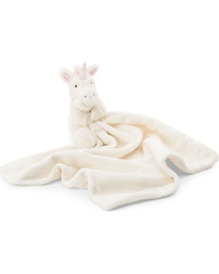 Jellycat Bashful Unicorn Soother Blanket, Size One Size - White