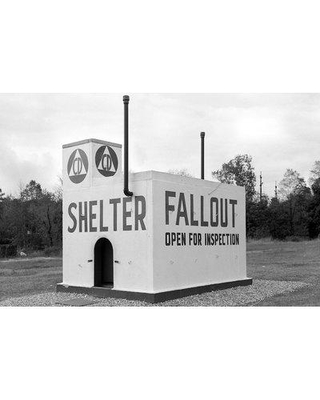 """East Urban Home '1950s Civil Defense Fallout Shelter Sample Open for Inspection' Photographic Print on Wrapped Canvas ERNI4064 Size: 26"""" H x 40"""" W x 0.75"""" D"""