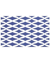 "Breakwater Bay Grover Geometric Print Throw Blanket BRWT5997 Size: 60"" L x 50"" W, Color: Blue Suede (Royal Blue)"