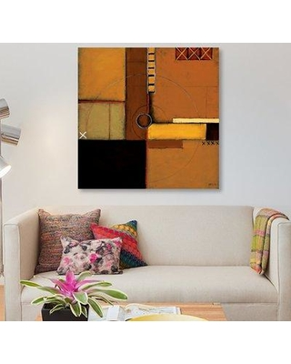 """East Urban Home 'Aerial View I' Painting Print on Canvas ESUR4039 Size: 37"""" H x 37"""" W x 0.75"""" D"""