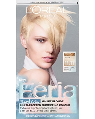 L'Oreal Paris L'Oréal Paris Feria Permanent Hair Color, 11.11 Icy Blonde (Ultra Cool Blonde) from Amazon | ShopFitness
