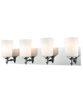 4 Light Vanity in Chrome and Opal Glass