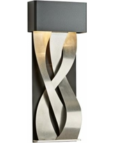"Hubbardton Forge Tress 22 3/4""H Black Small LED Wall Sconce"