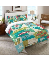 Rosecliff Heights Everglades Duvet Cover ROHE8118 Size: King