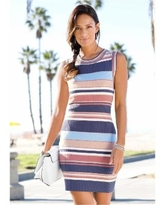 """Striped Sweater Dress Dresses - Pink/multi"""
