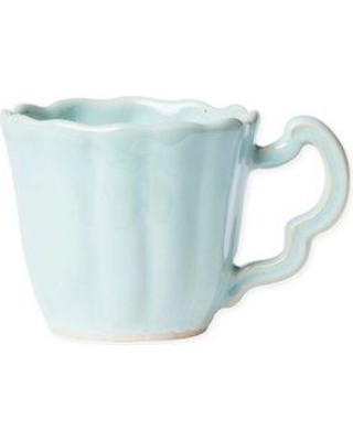 VIETRI Incanto Scallop Coffee Mug SINC-W1110K Color: Aqua