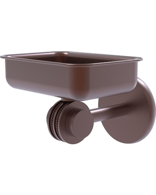 Allied Brass Satellite Orbit Two Collection Wall Mounted Soap Dish with Dotted Accents in Antique Copper