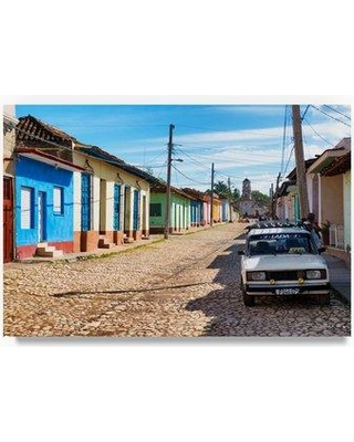 "Trademark Fine Art 'Cuban Street Scene in Trinidad' Photographic Print on Wrapped Canvas PH00722-C Size: 30"" H x 47"" W"