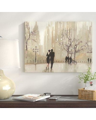 """East Urban Home 'An Evening Out Neutral' Print on Wrapped Canvas EUNM5572 Size: 18"""" H x 24"""" W"""