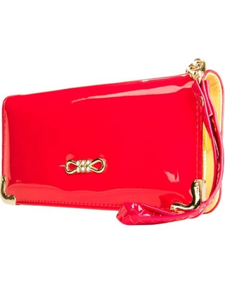 Women's Clutch Wallet Evening Purse Wristlet with Cell Phone Compartment (fits up to 6.25in x 3.1in)