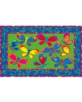 """Kid Carpet Learning on the Fly Kids Rug FE729 Rug Size: Rectangle 6' x 8'6"""""""