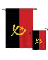 Can T Miss Bargains On Breeze Decor Yemen Of The World Nationality Impressions Decorative Vertical 2 Sided Polyester Flag Set In Red Black Wayfair