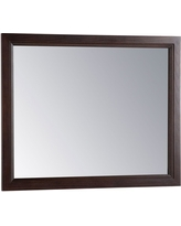 Home Decorators Collection Teasian 26 in. x 31 in. Framed Single Wall Mirror in Chocolate (Brown)