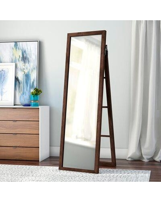 Three Posts Jakin Wood Ladder Standing Full Length Mirror W000893482 Finish: Brown