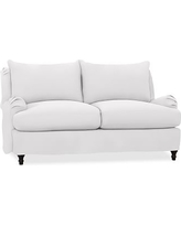 "Carlisle Slipcovered Loveseat 70"", Polyester Wrapped Cushions, Twill White"