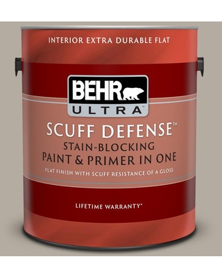BEHR ULTRA 1 gal. #PPU18-13 Perfect Taupe Extra Durable Flat Interior Paint & Primer