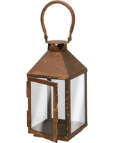 Garden Accents Artificial Lantern Rust 12 - National Tree Company, Bronze