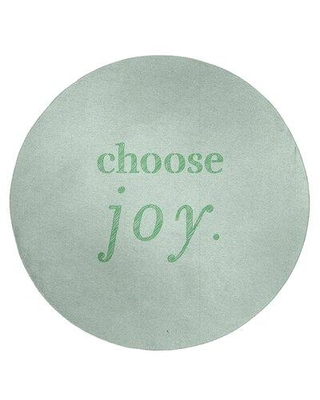 East Urban Home Handwritten Choose Joy Quote Poly Chenille Rug FCLS7825 Rug Size: Rectangle 5' x 7'