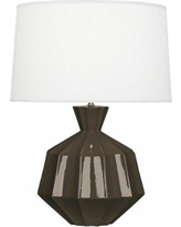 Robert Abbey Orion Brown Tea Ceramic Table Lamp