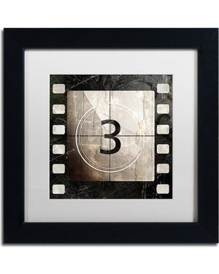"Trademark Art 'Vintage Countdown III' Framed Graphic Art ALI4495-B1 Size: 11"" H x 11"" W x 0.5"" D Mat Color: White"