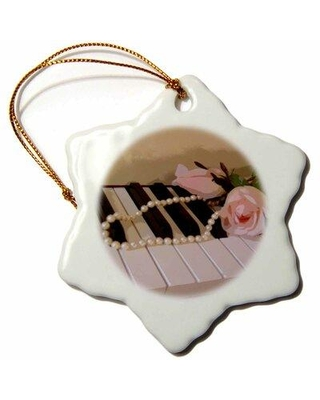 Sales On The Holiday Aisle Roses On Piano Keys Holiday Shaped Ornament Ceramic Porcelain In Beige Size 3 H X 3 W Wayfair