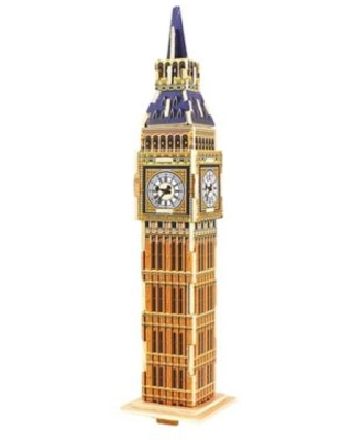 Hands Craft Big Ben 24-Piece DIY 3D Wooden Puzzle