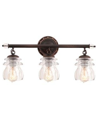 Big Deal On Breakwater Bay Mikell 3 Light Vanity Light Glass In Antique Copper Copper Size 10 H X 21 W Wayfair F5e2f1df99794073af0af6a5fb1109f6