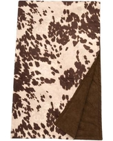 Wooded River Faux Hair on Hide Throw Blanket WD9010 Color: Udder Brown