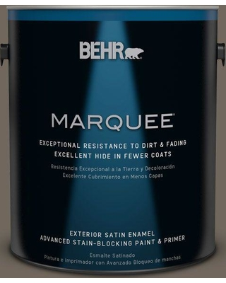BEHR MARQUEE 5 gal. #T16-20 Opus Satin Enamel Exterior Paint and Primer in One
