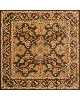 Safavieh Classic Brown 6 ft. x 6 ft. Square Area Rug