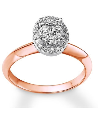 Jared Diamond Engagement Ring 1/2 ct tw Round-cut 14K Two-Tone Gold
