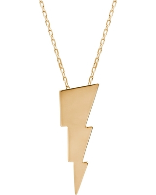 Edge Only - Triple Bolt Necklace In Gold
