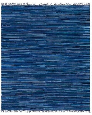 Great Prices For Bungalow Rose Marcial Striped Hand Knotted Cotton Navy Blue Area Rug X111392079 Rug Size Rectangle 8 X 10