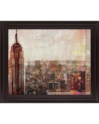 Can T Miss Bargains On Red Barrel Studio Shades Of New York By Markus Haub Picture Frame Painting Print On Plastic Plastic Acrylic In Red Brown Size Medium 25 32